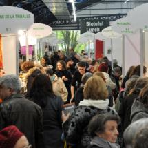 Salon Marjolaine 2017 - couloir avec exposants et visiteurs
