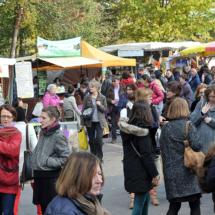 Salon Marjolaine 2017 - exposants et visiteurs à l'extérieur