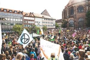 Manifestation de jeunes pour le climat